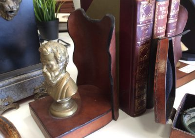 Antique Brass Men's head Bookends