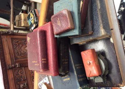 Antique Books including Holy bible